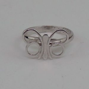 Vintage Sarah Coventry Butterfly Ring Silver Tone